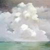 "Clouds, Oil on Canvas, 48"" x 30""   Collection of Linda Buckley"