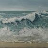 "Angry Ocean, Oil on Canvas, 60"" x 36"""