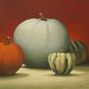 "Winter Squash, Oil on Canvas 14"" x 14"", Private Collection"